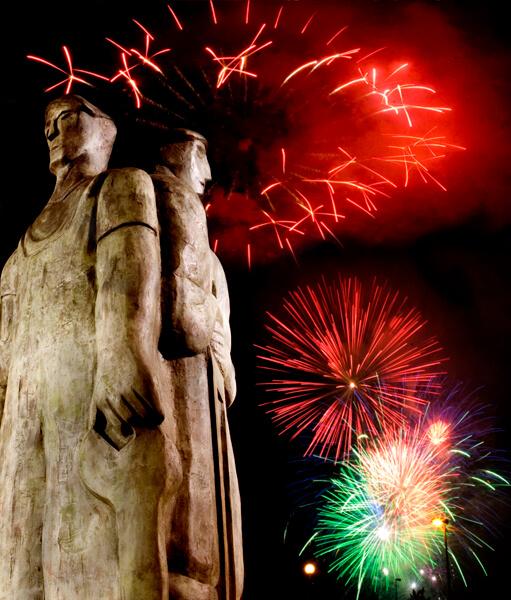 Axpe guneko estatua